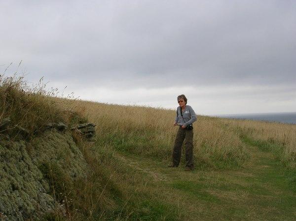 Sue on cliff walk