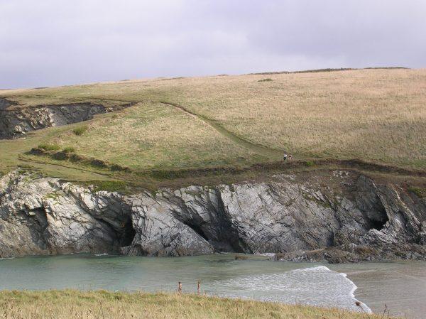 View across Porth Joke bay