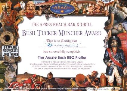 Amazing Bush Tucker BBQ meal