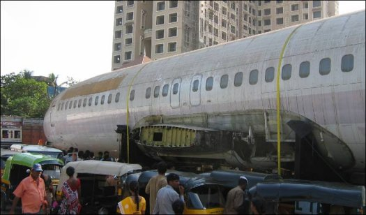 Plane on Road in India