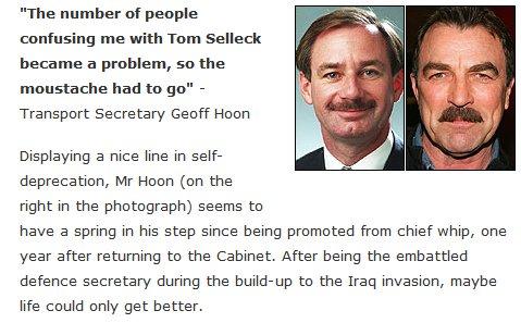 Geff Hoon vs Tom Selleck