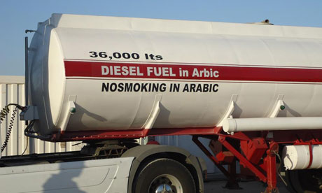 Egyptian fuel tanker